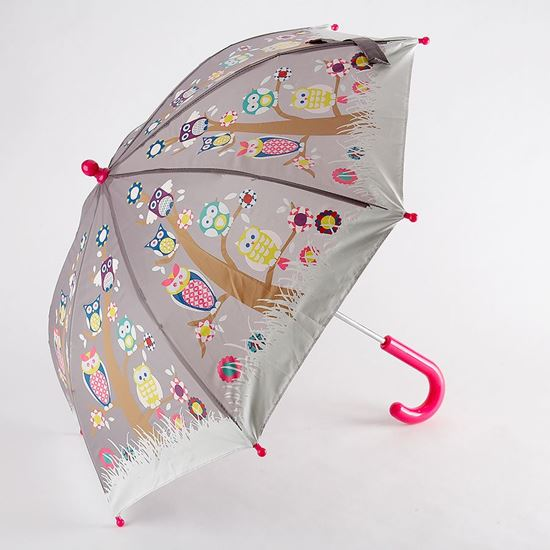 Colour changing umbrella owl design