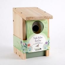 Triple action bird box - The most versatile bird box you can buy, with floral wrap