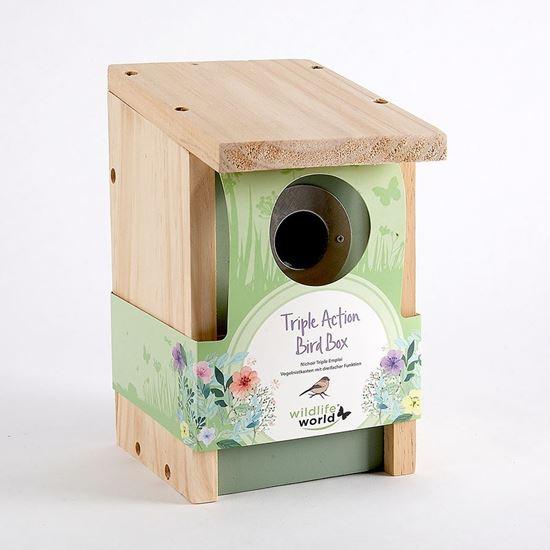 Pet Supplies Bird Supplies Three Birdhouse Bird Nest Breeding Box Wildlife World
