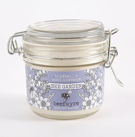 Small kitchen candle - bluebell and wood anemone