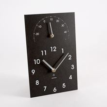 Eco clock and thermometer