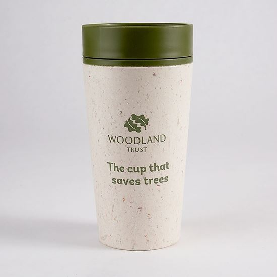 Woodland Trust rCUP cream and green