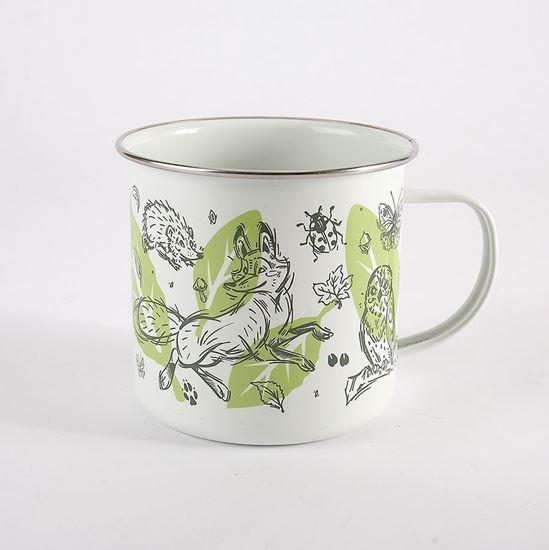 Woodland Trust enamel mug - creatures