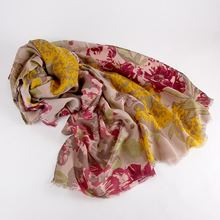 Floral berry design scarf