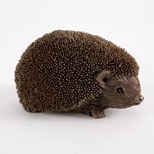 Hedgehog sculpture made from cold-cast solid bronze resin