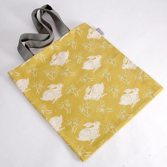 Headlong hare print tote bag by Sam Wilson