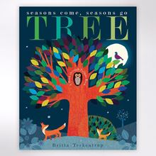 Tree Seasons Come Seasons Go book by Patricia Hegarty, illustrations by Britta Teckentrup.
