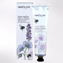 Bee Calm hand cream fragranced with lavender and geranium