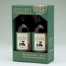 Boxed kitchen garden toiletries set with Basil and Lemon Thyme Hand Wash and Almond and Orange Blossom Hand Lotion