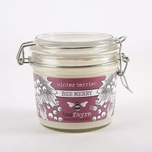 Large kitchen candle - winter berries