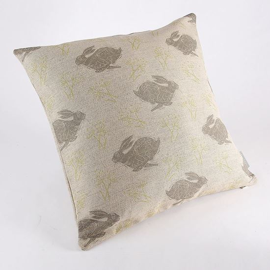 Hare print cushion cover by Sam Wilson