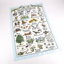 Woodland Trust tea towel - A to Z of Spring