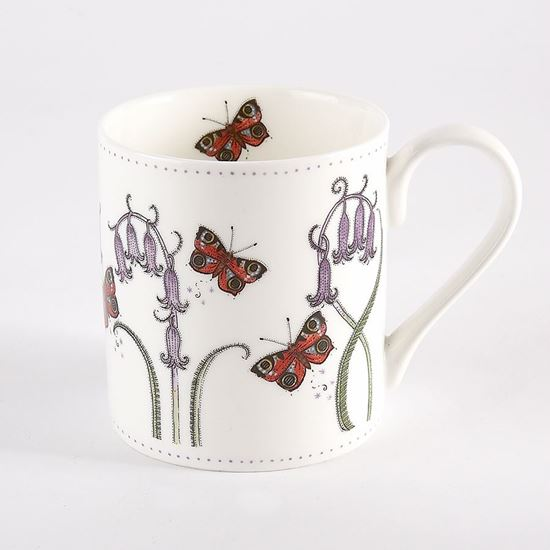 Woodland Trust mug - bluebell and butterfly