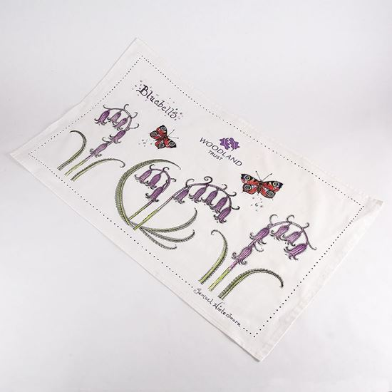 Woodland Trust tea towel - Bluebell and butterfly