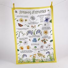 Woodland Trust tea towel - Spring Flowers