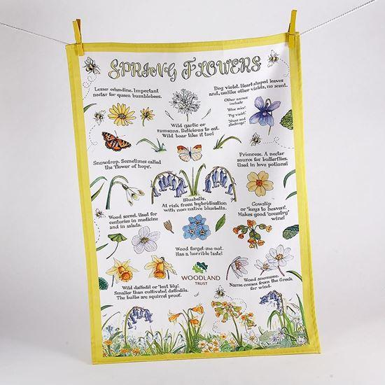 Woodland Trust tea towel - Spring Flowers