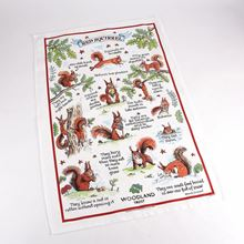 Woodland Trust tea towel - squirrel