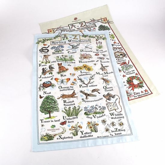 Woodland Trust tea towels - twin pack
