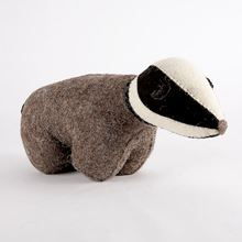 Felt badger doorstop