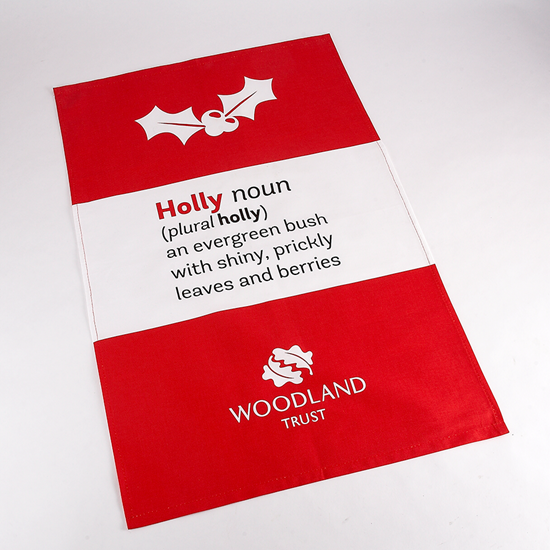 Picture of Woodland Trust tea towel - holly