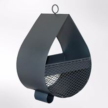 Raindrop bird feeder slate grey