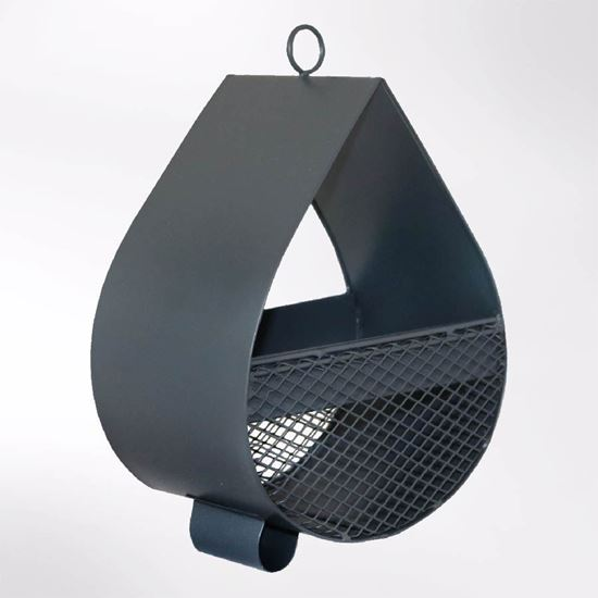 Raindrop bird feeder slate grey