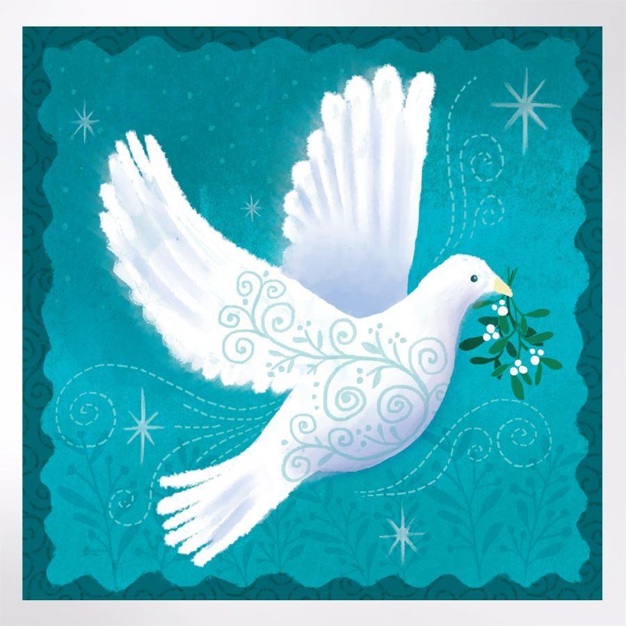 Christmas Tree Doves: Filigree Dove Christmas Cards