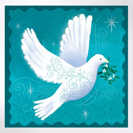 Filigree Dove Christmas cards  pack of 8