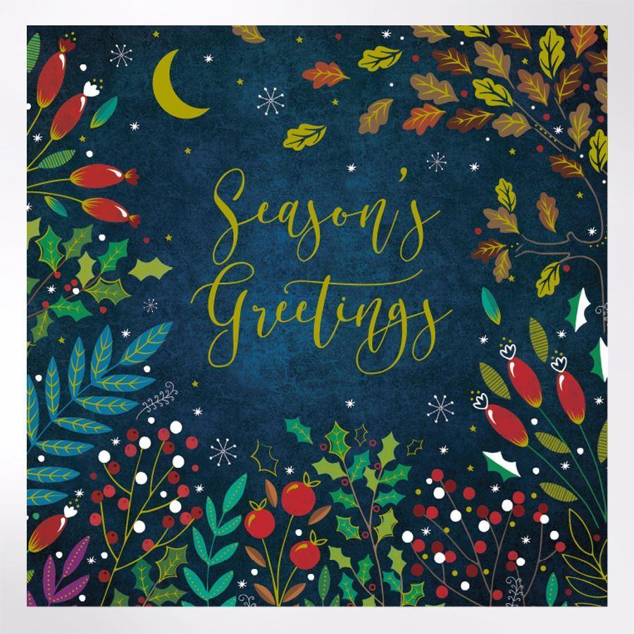 Midnight Foliage Christmas Cards