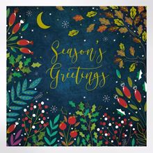 Midnight Foliage Christmas cards pack of 8