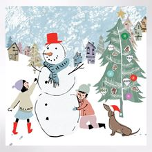 Snowman Hugs Christmas cards pack of 8