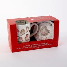 Wrendale Designs Family Christmas Mug and Ceramic Coaster Set