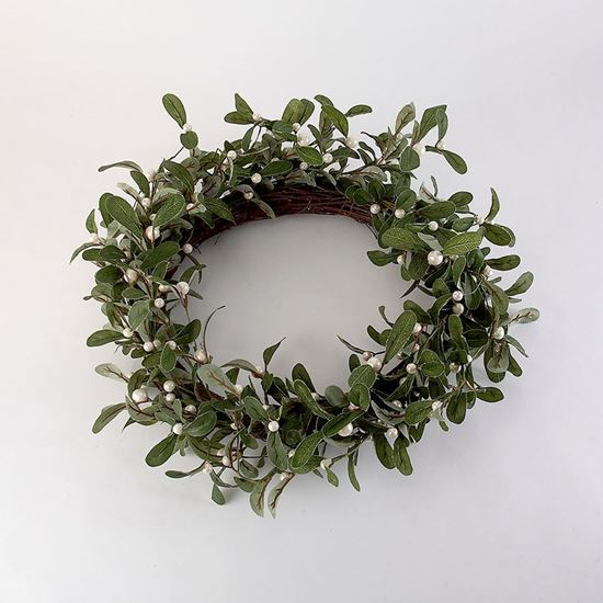 Woodland Trust Shop Buy White Mistletoe Wreath Robins Woodland