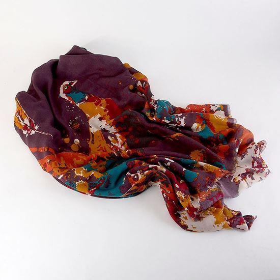 Watercolour pheasant scarf