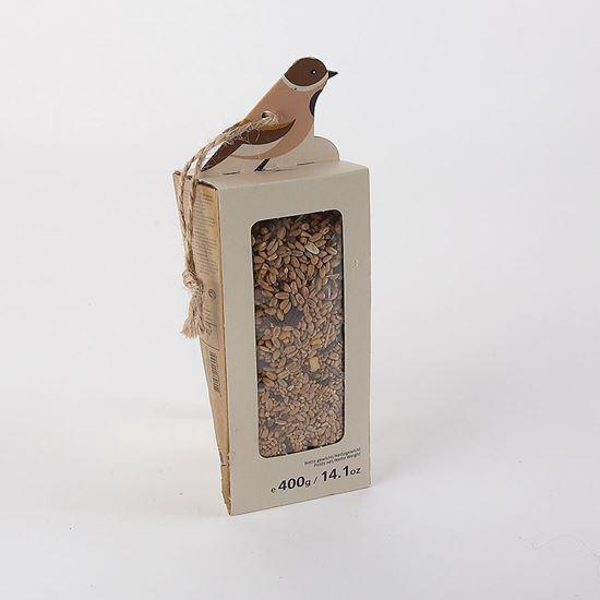 Assorted seed wedge bird food