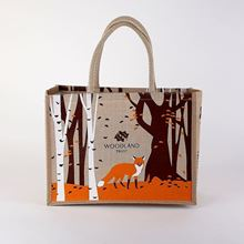 Picture of Woodland Trust juco shopping bag - autumn fox