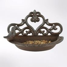 Bird wall-mounted feeder/bath