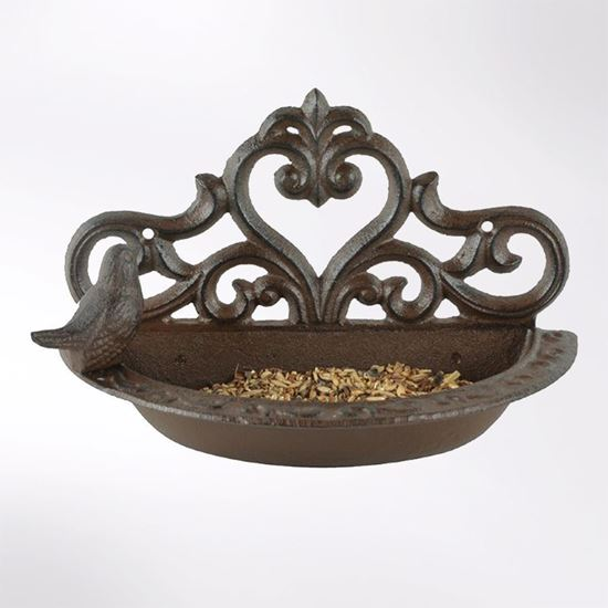 Bird wall-mounted feeder/bath
