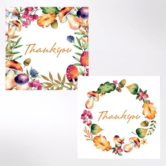 Foliage thank you cards