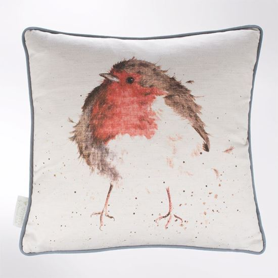 Wrendale Designs Jolly Robin cushion