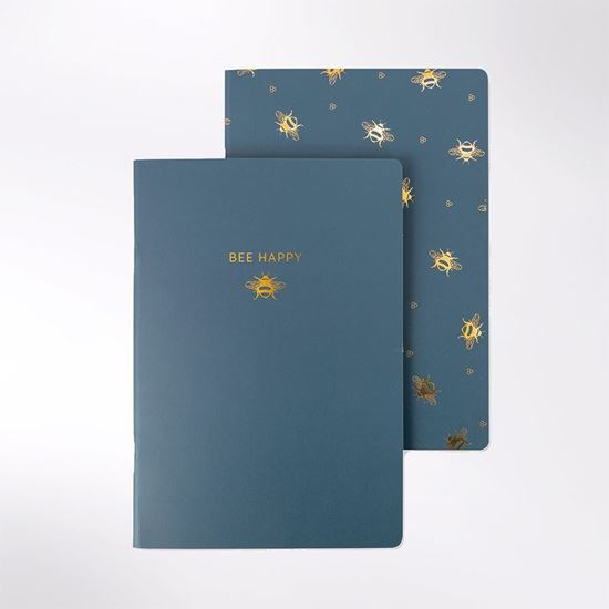 Picture of Bee Happy A5 set of two notebooks