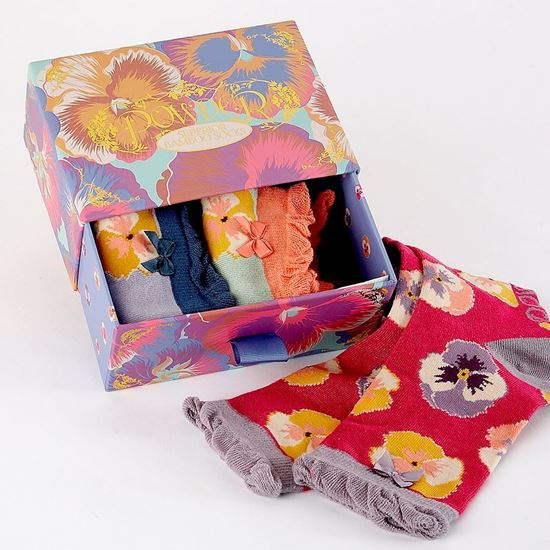 Picture of Pansy socks box