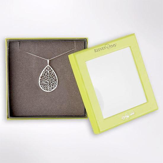 Picture of Skeleton leaf sterling silver necklace