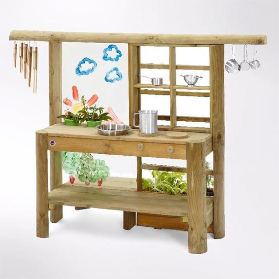 Picture of Kids outdoor wooden mud pie kitchen