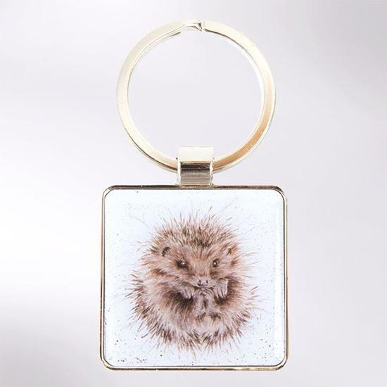 Picture of Wrendale Designs Awakening Hedgehog Keyring