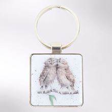 Picture of Wrendale Designs Birds of a Feather Owl Keyring