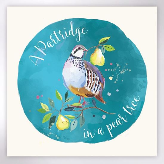 Picture of Partridge and pears Christmas cards