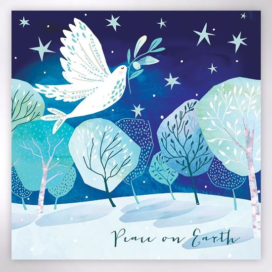 Picture of Dove with an olive branch Christmas cards