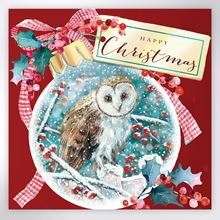 Picture of A snowy Christmas owl Christmas cards