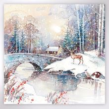 Picture of Stag winter scene Christmas cards